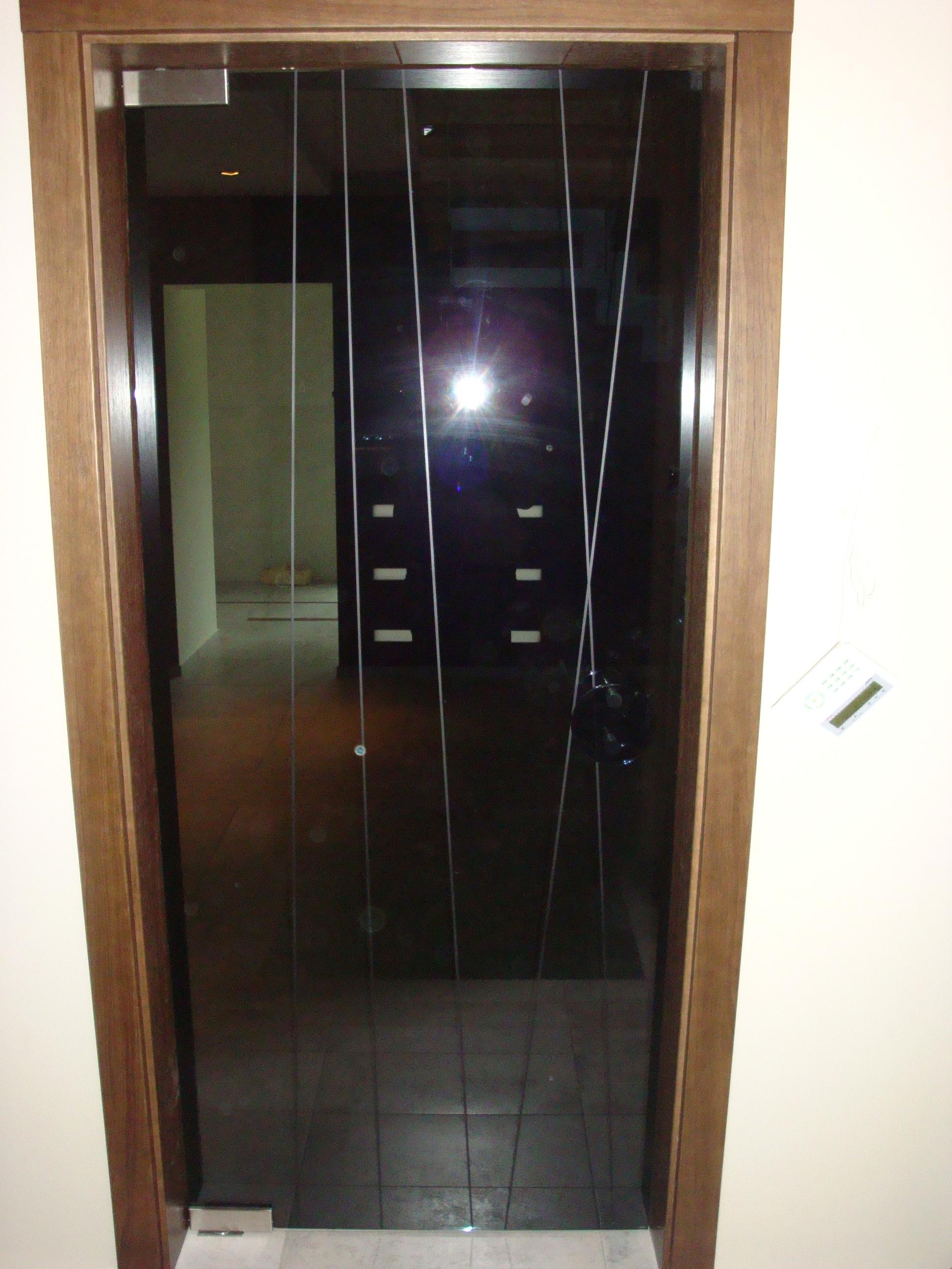Drzwi szklane szkło dymione